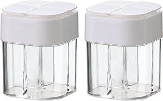 2 pcs 4-en-1 épices d'assaisonnement JAR Transparent Sugar Bouteille de sel de cuisine Organisateur Boîtes de rangement Ac...