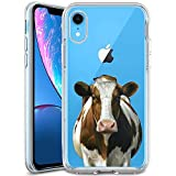 ChyFS Phone Case for iPhone Xr Cow Pattern Clear Case Crystal Protective Case for iPhone Xr.