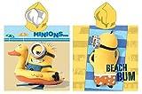 MINIONS - Poncho con capucha para toalla de playa