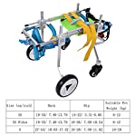 Pssopp Dog Wheelchair Aluminum alloy Pet Wheelchair Four Wheels Full Support Pet Rehabilitation Wheelchair Pet Wheelchair Cart for Hind Leg Recovery Handicapped Dog (XS Widen) 11
