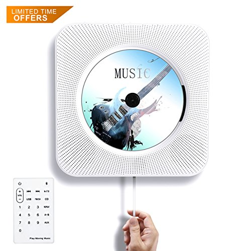 Tocode CD Player Wall Mountable Bluetooth Speaker Innovative Pull Switch with Remote HiFi Speaker...