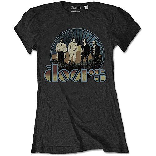 Rockoff Trade The Doors Vintage Field Camiseta, Negro (, 36 para Mujer