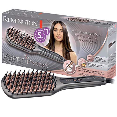 Remington Keratin Protect Straight CB7480 - Cepillo alisador, Cerdas de...