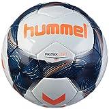 hummel Premier Light FB-Ballon de Football Balles Mixte Adulte, Blanc/Bleu Indigo/Orange, 4