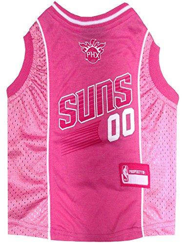 Pets First Phoenix Suns Pink Jersey, Large