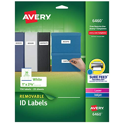 Avery Multiuse Removable Labels with Sure Feed, 1