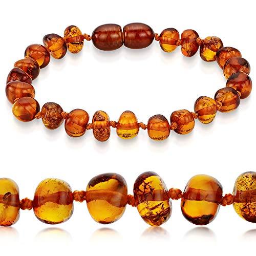 Premium 100% Genuine Baltic Amber Anklet Bracelet Cognac Sizes 13cm 14cm 15cm 16cm 17cm 18cm 19cm 20cm 21cm 22cm (13 cm / 5.1 inch)