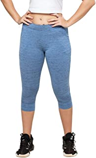 Lovable Women Girls Cotton Solid Track Pants in Blue Color- Recover Tights - SLM-IB