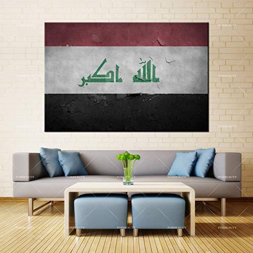 N / A Leinwandmalerei Wandflagge Irak Textur Hintergrund Symbol Oberfläche gesprüht wasserdichte Tinte Hauptdekoration