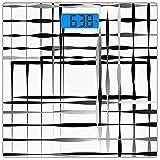 Escala digital de peso corporal de precisión Square Arte Moderno Báscula de...