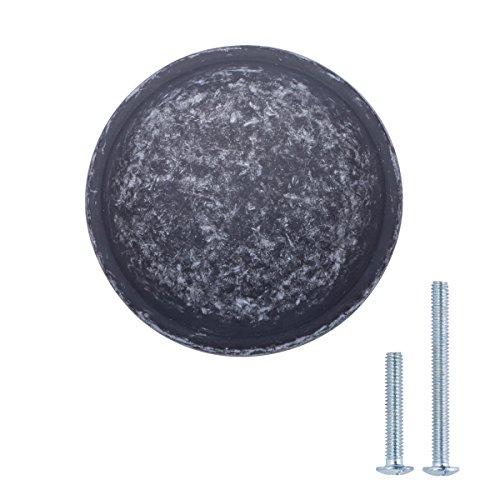 AmazonBasics - Schubladenknopf, Möbelgriff, stark gewölbt, Durchmesser: 3,02 cm, Antik-Silber, 25er-Pack