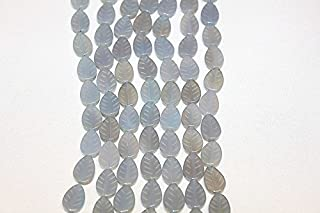 Genuine Stone Beads - 10x14- Carved Leaf Beads - Two (2) Strands of 15-16