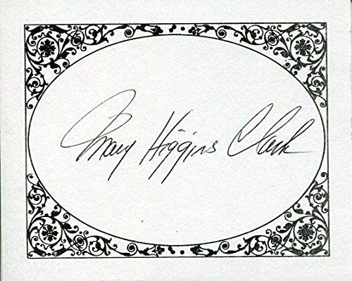Mary Higgins Clark Author And NY New York Nets Owner Signed Autograph Bookplate - NBA Cut Signatures