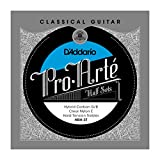 D'Addario HBH-3T Pro-Arte Hybrid Carbon G/B Classical Guitar Half Set, Hard Tension