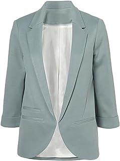 8b5a2f531ebf cromoncent para mujer Classic con muescas solapa 3/4 Manga Slim Blazers  trajes chamarra