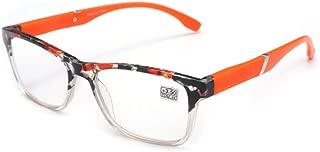 Inlefen Ladies men Fashion Full frame rectangle Reading glasses +1.0 to +4.0