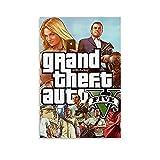 GOUWEI GTA V Phone Wallpaper Poster Pintura Decorativa Lienzo Arte Pared Sala Póster Dormitorio...