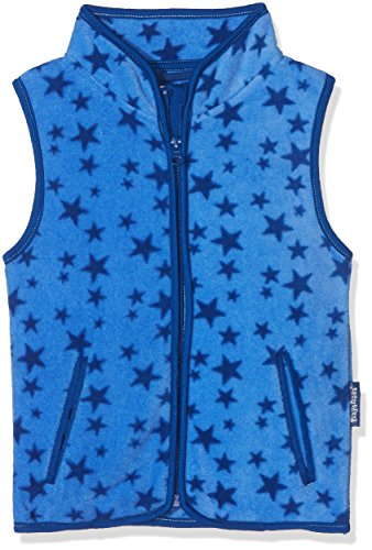 Playshoes Unisex Kinder Fleeceweste Allover Sterne, Blau, 140