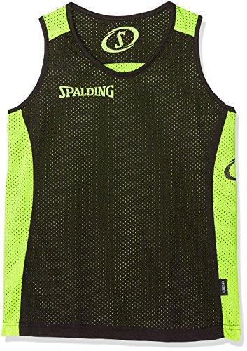 Spalding300201407, Canottiera Bambini, Multicolore (nero/giallo), 140