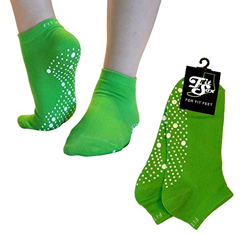 Pilates, Yoga, Barre, Kampfsport, Fitness, Tanz. Anti-Rutsch, Stürze Prävention Grip-Socken, Grip Socks (Grün/Weiß)