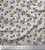 Soimoi Grau Baumwoll-Voile Stoff Poker-Karte, Würfel &