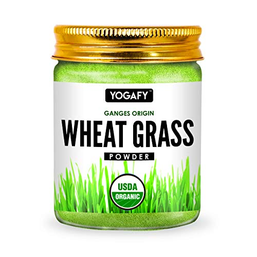 YOGAFY- Organic Wheatgrass powder - 100 Gram | Super Food Dietary Supplement | Rich in VIT A & B | Gluten Free, Non-GMO |