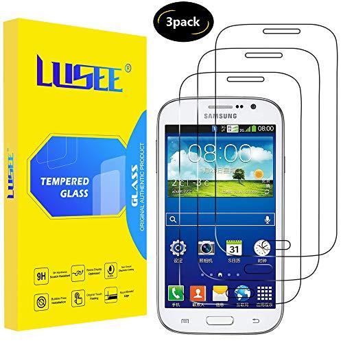 Lusee 3 Piezas Protector de Pantalla para Samsung Galaxy Grand Neo Plus I9060 / Galaxy Grand I9080 I9082 Cristal Vidrio Templado [Dureza 9H] Resistente a los arañazos Protector de Pantalla