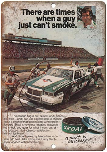 MiMiTee Skoal Racetrack Nascar Chewing Tobacco Blechschild Vintage Metall Warnschilder Eisen Art Plaque hängen Poster Auto Promi Hof Garten Cafe Bar Pub öffentliches Geschenk