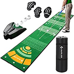 🏌【AUTOMATIC BALL RETURN & IMPROVED ACCURACY】Return the ball automatically without picking it up frequently. The non-slip pad ensures its stability. Plus, the golf ball markers help you aim better at your target. 🏌【MARKINGS FOR VARIOUS DISTANCES & ANG...