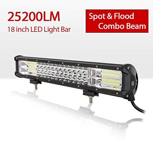 LED Arbeitsscheinwerfer Bar Willpower 18'' 46cm 252W LED Scheinwerfer 12V 24V Flutlicht Strahler Combo Zusatzscheinwerfer Auto Rückfahrscheinwerfer LED für Offroad Traktor SUV ATV