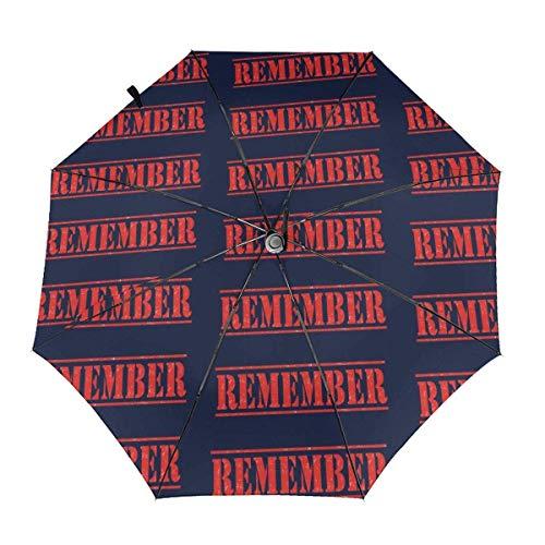 Trushop Automatischer Regenschirm Remember Everyone Deployed Folding Umbrella Travel Fashion Automatic Umbrella