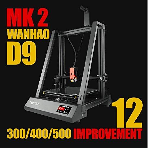 D9 MK 2 (500) Duplicateur d'imprimante 3D-D9 Mark 2 II Grand Format, Taille d'impression 500 mm, Taille Monstre, BL Touch Nivellement, Live Z Tuning