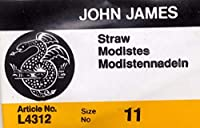 Colonial Needle 25 Count John James Milliners/Straw Uncarded Needles, Size 11 by Colonial Needle
