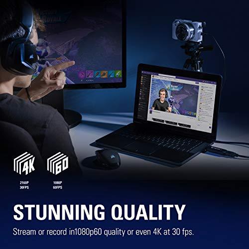Elgato Cam Link 4K - Live-Streamen und Aufnehmen mit DSLR, Action Cam oder Camcorder & Amazon Basics HL-007342 Hochgeschwindigkeits-HDMI-Kabel, Typ Mini-HDMI auf HDMI, 1,83 Meter,Schwarz