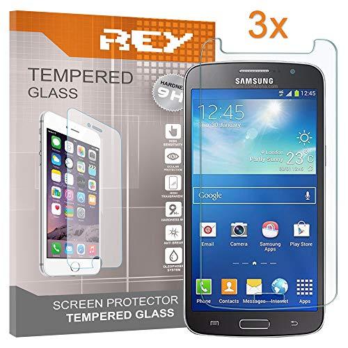Pack 3X Pellicola salvaschermo per Samsung Galaxy Grand Neo Plus, Pellicole salvaschermo Vetro Temperato 9H+, di qualità Premium, Elettronica Rey®