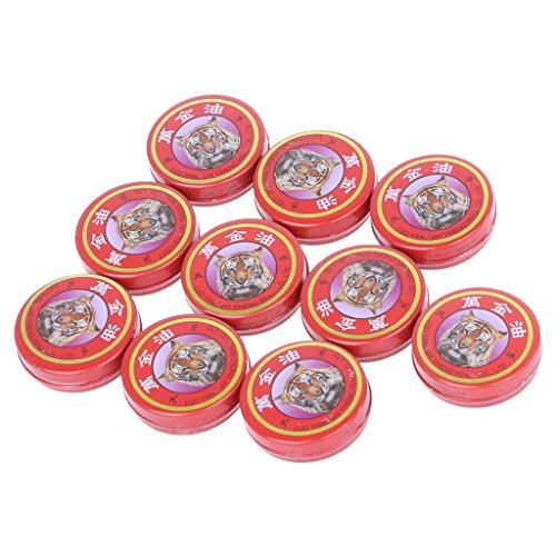 PENG 10pcs / Lot Summer Cooling Oil Refresh Brain Tiger Balm Expulsar Mosquito