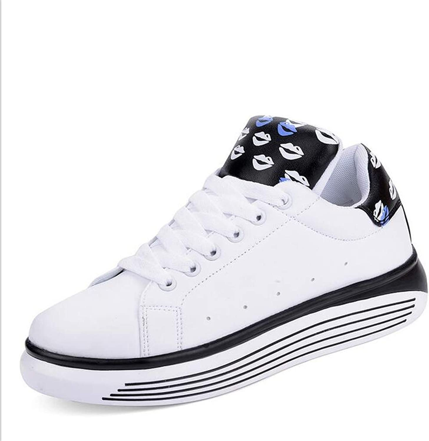 Womens's shoes Lace-up Deck shoes Little White shoes Ladies Microfiber Leather Academy Casual Sneakers