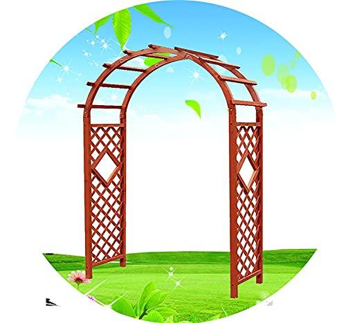 ETNLT-FCZ Arche Mariage,Arche Jardin Bois Colonne De Jardin Arche À Rosiers Arche De Jardin pour Diverses Plantes Grimpantes (Color : Orange, Size : W140x H215cm)