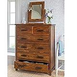 shilpi handmade pure sheesham wood standard chest of 7 drawers wooden multipurpose storage cabinet