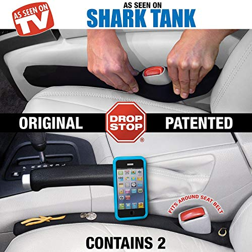 Drop Stop - The Original Patented Car Seat Gap Filler (AS SEEN ON Shark Tank) - Set of 2