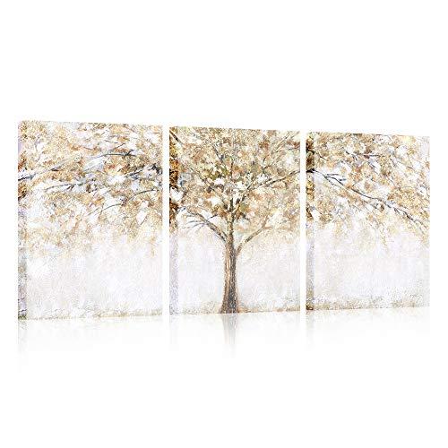 3 paneles árbol Marco de madera Cuadro Modernos Lienzo Pintura Cartel HD Impresión de Imagen cuadros decorativos Sala de estar Cuarto de baño Comedor Decoración de pared Listo para colgar 30cmx40cmx3