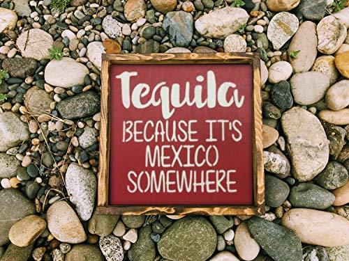 43LenaJon Tequila Omdat haar Mexico Ergens, houten teken, handgemaakt, bruiloft geschenk, bruiloft geschenk, rustieke houten teken, boerderij decor