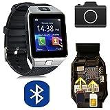 CursOnline® Unisex pulsera caso muñeca reloj teléfono reloj inteligente SmartWatch m9, correa de silicona, SIM, Micro...