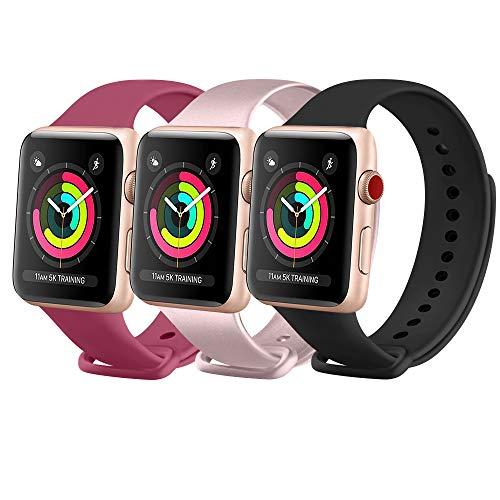 FUUI Correa Compatible con Apple Watch 38mm 42mm 40mm 44mm, Pulseras de...