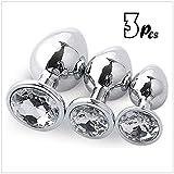 tyufgt6u Juego de 3 piezas de acero inoxidable para entrenador de metal con diamante usado para hombre o mujer blanco