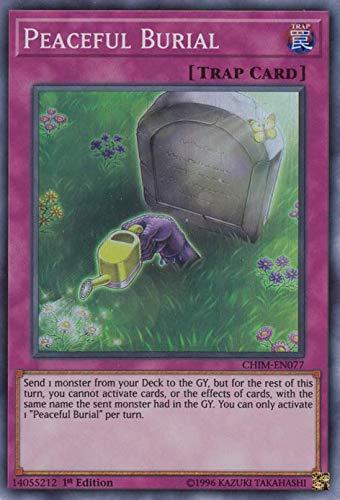 Yu-Gi-Oh! - Peaceful Burial - CHIM-EN077 - Super Rare - 1st Edition - Chaos Impact