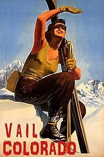 Winter Sport with Sun Vail Colorado SKI Mountains Woman Skiing Travel 16
