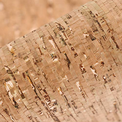 CHZIMADE 1 Yard Soft Cork Fabric Faux DIY Sheet Canvas Back Great for Hair Bows Making Craft
