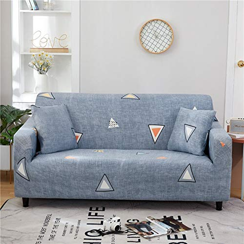 WXQY Funda de sofá Floral de poliéster, Funda de sofá retráctil para Sala de Estar, Funda de sofá elástica, Funda de Silla, sofá, Toalla, Funda de sofá A4 2 plazas