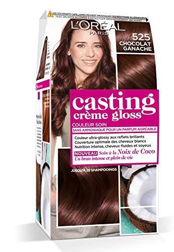 L'Oréal Paris Casting Crème Gloss Coloration Ton sur Ton pour Cheveux - Sans Ammoniaque - Chocolat Ganache (525)